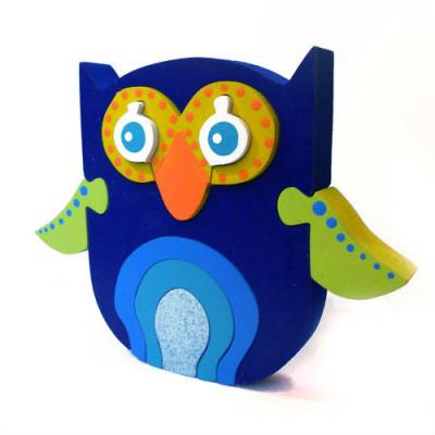 Wooden Blue Owl Puzzle