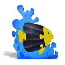 Blue Fish Wooden 3D Puzzle