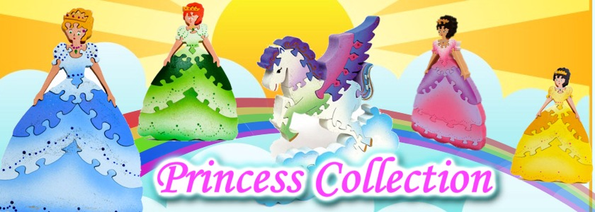 3D Wooden Princess Puzzles Collection