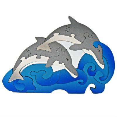 Medium Wooden Dolphins Puzzle