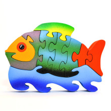 Medium Wooden Colorful Fish Puzzle