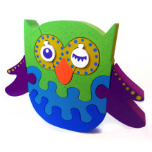 Wooden Green Blue Owl Puzzle