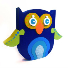 Wooden Blue Owl Puzzle