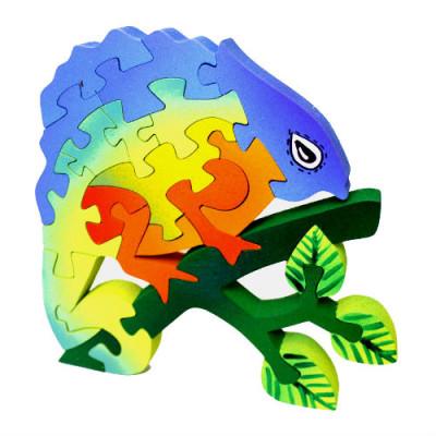 Wooden Chameleon Puzzle