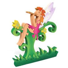 Fairy With Flute Wooden Puzzle