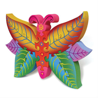 Wooden Colorful Butterfly Puzzle