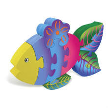 Colorful Wooden Rainbow Fish Puzzle