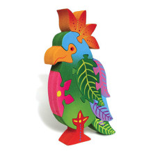Wooden Colorful Parakeet Puzzle