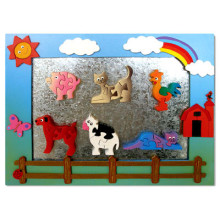 Wooden Farm Magnet Frame With Magnet Puzzles