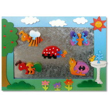 Wooden Garden Magnet Frame With Magnet Puzzles