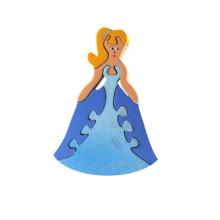 Blue Wooden Princess Magnet Puzzle