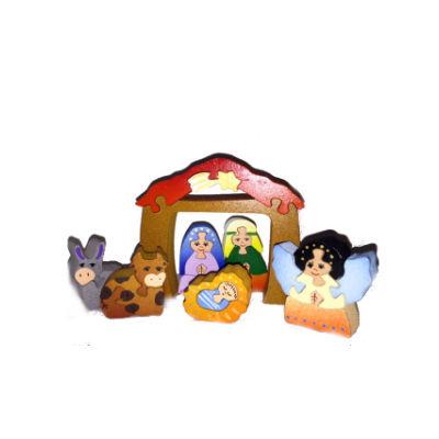 Wooden 3D Nativity