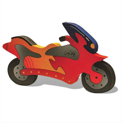 Wooden Motorcycle Puzzle