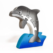 Wooden Dolphin Single Puzzle