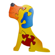 Wooden Colorful Dog Puzzle