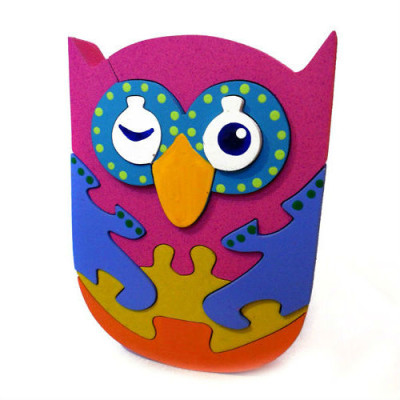 Wooden Pink Owl Puzzle