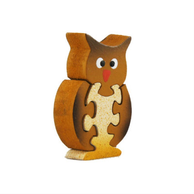 Wooden Owl Magnet Puzzle