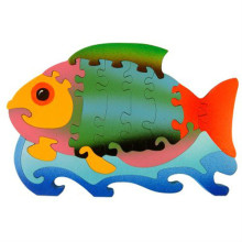 Large Wooden Colorful Fish Puzzle