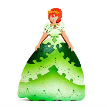 Large Green Wooden Princess Puzzle