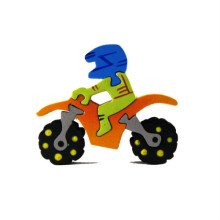 Yellow Motorcycle Magnet Puzzle
