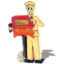 Wooden Organ Grinder Skeleton Puzzle