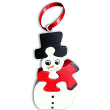 Wooden Snowman Ornament Puzzle