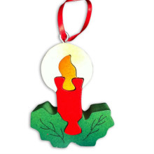 Wooden Candle Ornament Puzzle