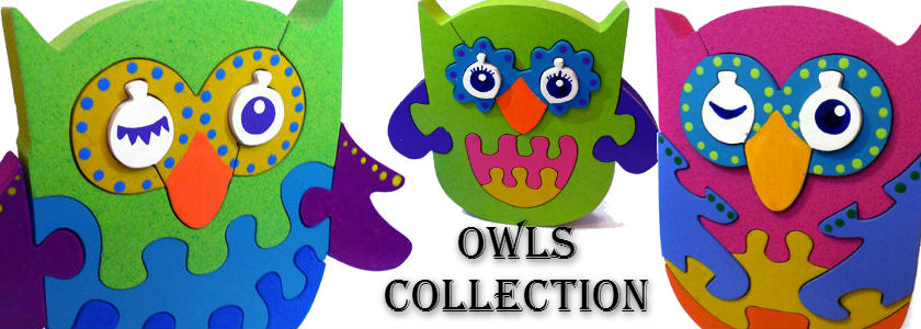 Wooden Owl Puzzles